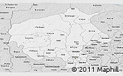 Silver Style Panoramic Map of Oyo