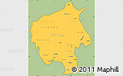 Savanna Style Simple Map of Oyo, cropped outside