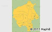 Savanna Style Simple Map of Oyo, single color outside