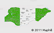 Flag Panoramic Map of Nigeria