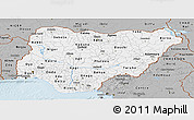 Gray Panoramic Map of Nigeria