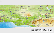 Physical Panoramic Map of Nigeria