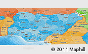 Political Shades Panoramic Map of Nigeria
