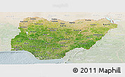 Satellite Panoramic Map of Nigeria, lighten