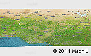 Satellite Panoramic Map of Nigeria