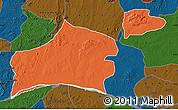 Political Map of Nasarawa, darken