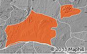 Political Map of Nasarawa, desaturated