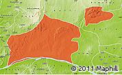 Political Map of Nasarawa, physical outside