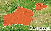 Political Map of Nasarawa, satellite outside