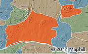 Political Map of Nasarawa, semi-desaturated