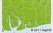 Physical Map of Khana