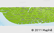 Physical Panoramic Map of Rivers