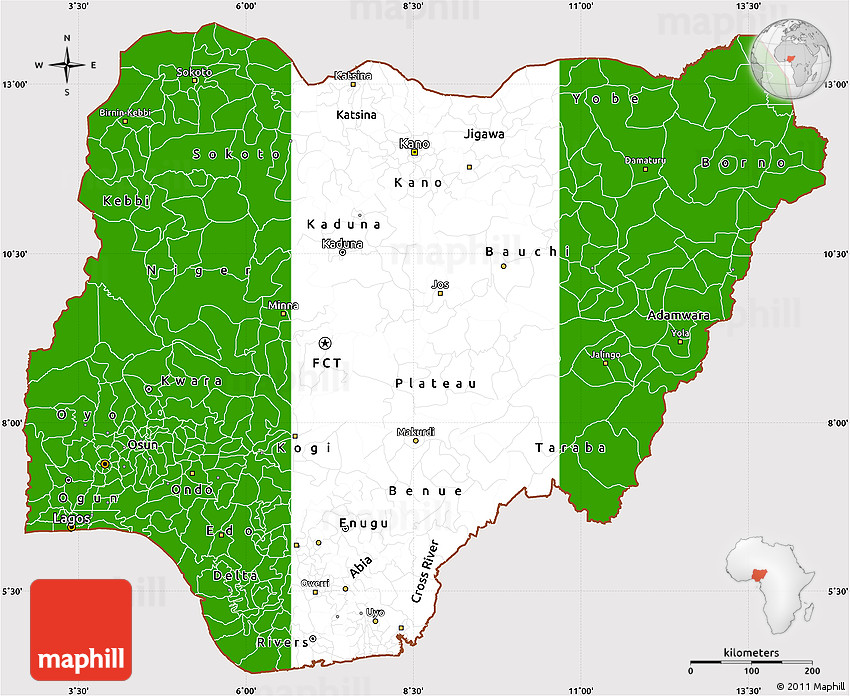 Image result for nigerian map