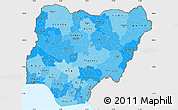 Political Shades Simple Map of Nigeria, single color outside