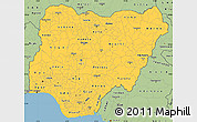 Savanna Style Simple Map of Nigeria