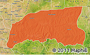 Political Map of Gummi, satellite outside