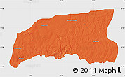 Political Map of Gummi, single color outside