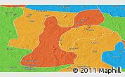 Political Panoramic Map of Gusau