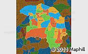 Political Map of Sokoto, darken