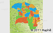 Political Map of Sokoto, physical outside