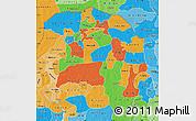 Political Map of Sokoto, political shades outside