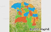 Political Map of Sokoto, satellite outside