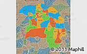 Political Map of Sokoto, semi-desaturated