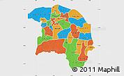 Political Map of Sokoto, single color outside