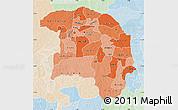 Political Shades Map of Sokoto, lighten