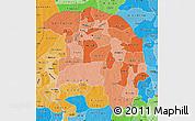 Political Shades Map of Sokoto