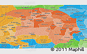 Political Shades Panoramic Map of Sokoto