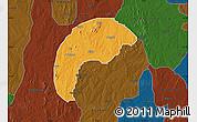 Political Map of Tsafe, darken