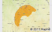 Political Map of Tsafe, physical outside