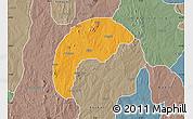 Political Map of Tsafe, semi-desaturated