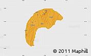 Political Map of Tsafe, single color outside