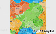 Political Shades 3D Map of Taraba