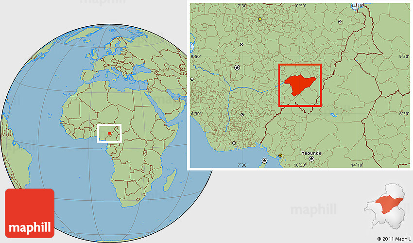 Savanna Style Location Map of Bali