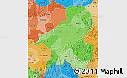 Political Shades Map of Taraba