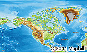 Physical 3D Map of North America