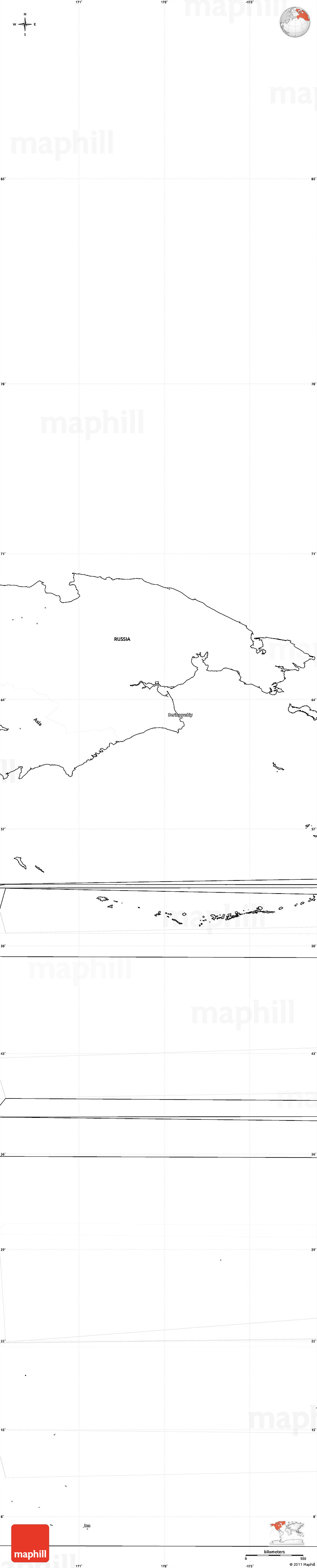 Blank simple map of north america 2d sciox Gallery