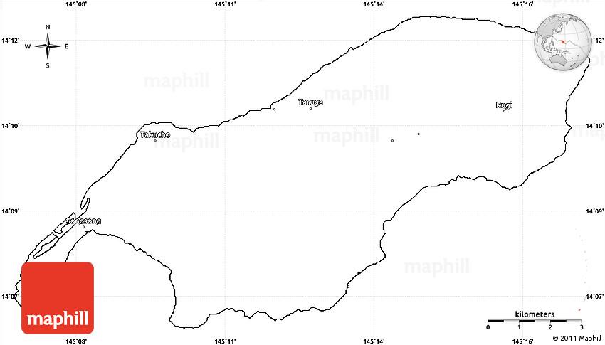 Rota Northern Mariana  city photos gallery : Blank Simple Map of Rota
