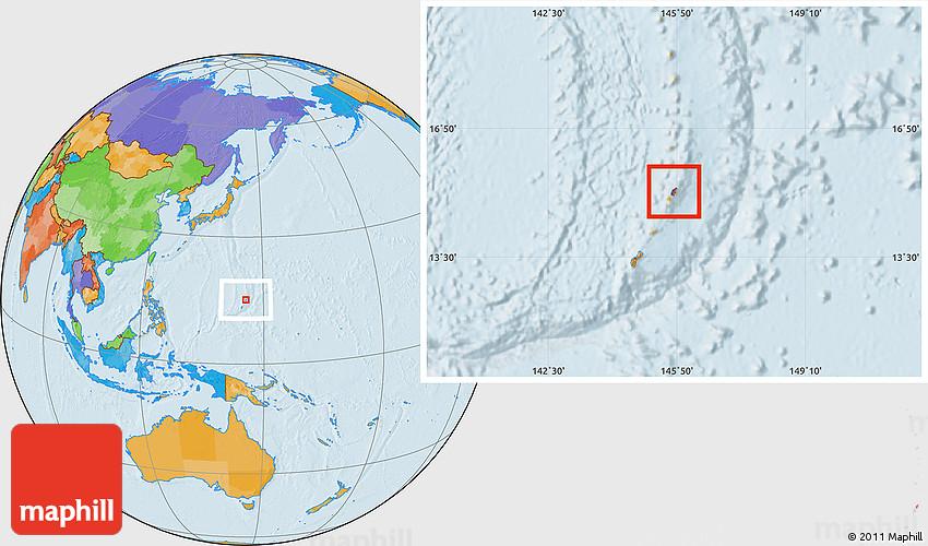 saipan on world map Political Location Map Of Saipan