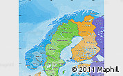 Political Shades Map of Norway