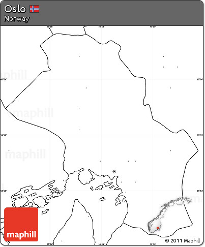 Free Blank Simple Map of Oslo, no labels on map canada, map of asia without labels, us map without labels, map no letters, map italy, map senegal,