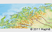 Physical 3D Map of Troms