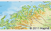Physical Map of Troms