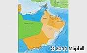 Political Shades 3D Map of Oman