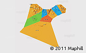 Political 3D Map of A Dakhliya, cropped outside