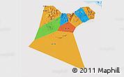 Political 3D Map of A Dakhliya, single color outside