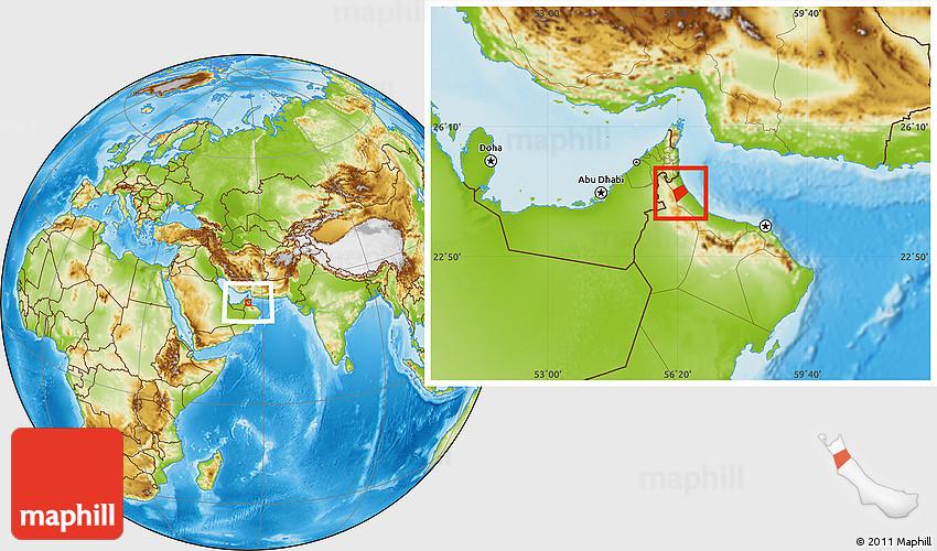 Physical Location Map of Liwa